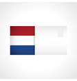 Envelope with Dutch flag card vector image vector image