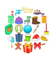 family icons set cartoon style vector image vector image