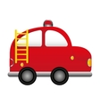 firefighter car vehicle comic vector image