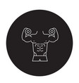fitness gym activities black concept icon vector image vector image