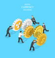 flat isometric concept cryptocurrency vector image