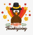 happy thanksgiving day card vector image vector image