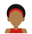 head of woman icon vector image vector image