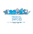 healthcare light poster vector image vector image