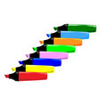 highlighter pens in line vector image vector image
