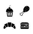 Junk food simple related icons