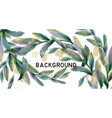 leaves watercolor background green vector image vector image
