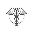 medicine - line design single isolated icon vector image vector image