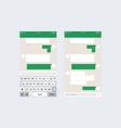 mobile ui kit messenger vector image