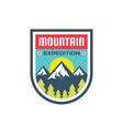mountain alpine adventure - logo template vector image