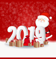 new year red background card vector image