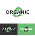 organic logo letter o logo logo template vector image