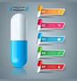 pill tablet medicine icon health business vector image vector image