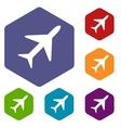 Plane rhombus icons vector image vector image