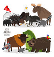 popular north america animals groups vector image vector image