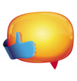 recommendation bubble - with like sign vector image vector image