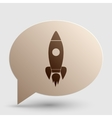 Rocket sign Brown gradient icon on vector image vector image