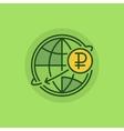 Russian money transfer flat icon vector image vector image