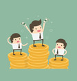 salary variation vector image vector image