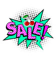 sale cartoon icon vector image vector image