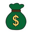saving money cartoon vector image vector image