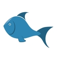 sea fish blue icon vector image