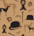 seamless background with vintage items vector image vector image