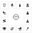 set of 13 editable baby icons includes symbols vector image vector image