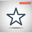 star iconflat design blue color vector image vector image