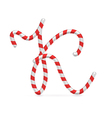 Sweet holiday candy abc letter vector image vector image