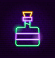 tequila bottle neon sign vector image