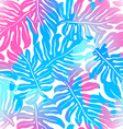 Tropical palms seamless pattern in colours vector image vector image
