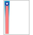 usa flag symbols border ribbon vector image vector image