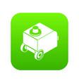 welding machine icon green vector image vector image