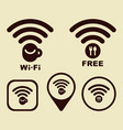 wi-fi icons for cafe and restaurants vector image