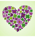 Love Spring heart vector image