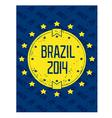 Round grunge label - Brazil 2014 vector image