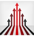 graph arrows background vector image
