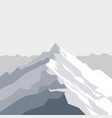 mountains landscape with vector image