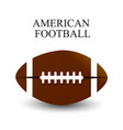 a realistic of an american football on a white vector image