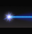 abstract blue laser beam magic neon light lines vector image vector image