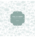 abstract gray bush leaves textile frame seamless vector image vector image