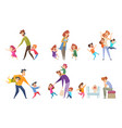 active kids big family tired parents playing vector image vector image