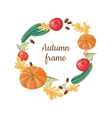 Autumn Frame Fall Fruits Vegetables Food Harvest vector image