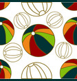 ball beach pattern seamless design template vector image vector image