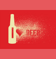 beer typography stencil spray grunge style poster vector image