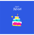 birthday cake for greeting card graphics vector image vector image