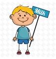 boy milk box vector image