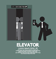 Businessman Standing With Crowded Elevator vector image vector image