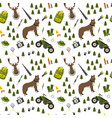 camping trip seamless pattern accessories vector image